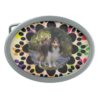 Pet Paw Frame on Paws Belt Buckle