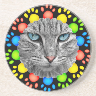 Pet Paw Frame Template for Coasters