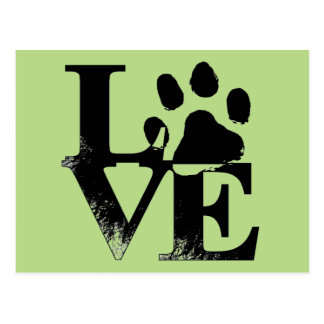 Pet Paw in LOVE Postcard