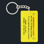 """Pet Paw Print Emergency Alert Keychain<br><div class=""""desc"""">Alert emergency personnel that you have a pet at home alone! If you are injured or incapacitated, this double-sided keychain has the customizable contact information of your pet&#39;s emergency caretaker. You can add more contact information if needed. Check out our wallet business cards that also have emergency alert information so...</div>"""