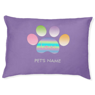 """""""Pet Paw Print with Love"""" Customizable Pet Bed"""