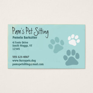 Animal print business cards templates zazzle pet paw prints animal lover business card colourmoves