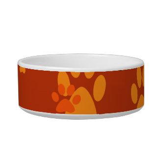 Pet paw prints bowl