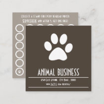 pet paw stamp card