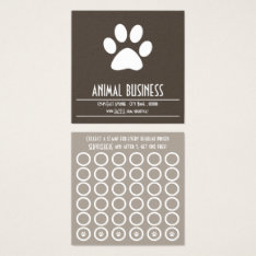Pet Paw Stamp Card at Zazzle