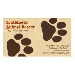 Pet Paw Tracks Animal Lover Business Card
