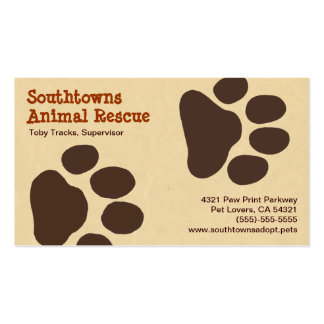 Pet Paw Tracks Animal Lover Business Card