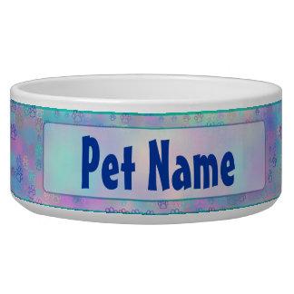 Pet Paws (blue) Bowl