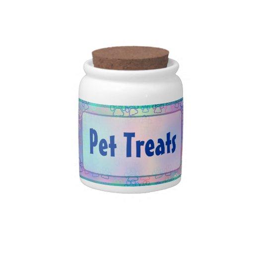 Pet Paws (blue) Candy Jars