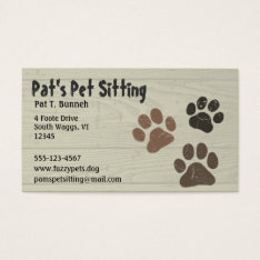 Pet Paws Business Card at Zazzle
