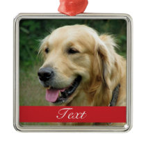 Pet Photo customizable Metal Ornament