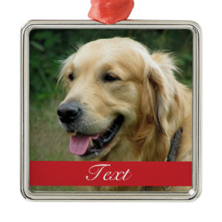 Pet Photo customizable Metal Ornament