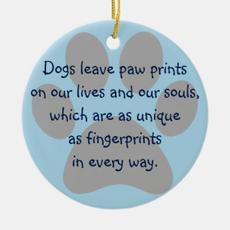 Pet Photo Customized Dogs Leave Paw Print Ornament