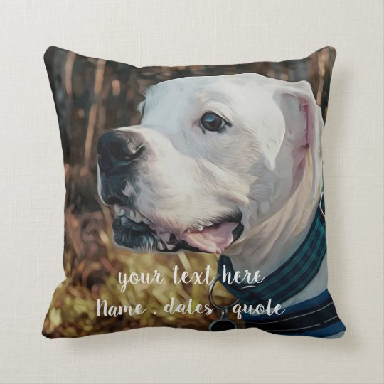 fb9abfb39e34 Pet Photo Gifts - Cat Memorial - Dog Memorial Throw Pillow | Zazzle.com