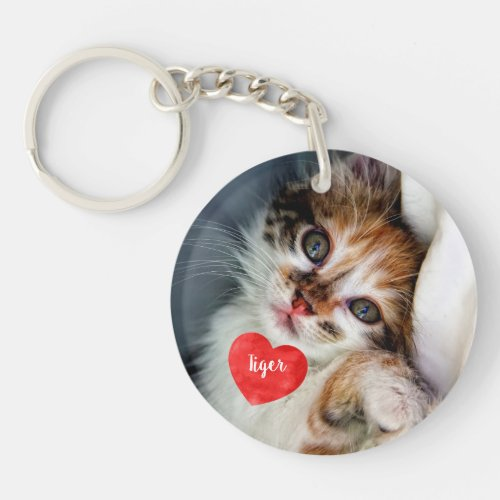 Pet Photo Memorial _ Add Your Photo _ Dog Photo Keychain