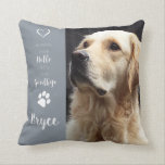 "Pet Photo Memorial - Add Your Photo - Dog Photo Throw Pillow<br><div class=""desc"">Celebrate your best friend with a personalized Pet Pillow . &quot; You were my Favorite Hello and my hardest Goodbye &quot; . . . Customize with your own photo , and name . See &#39;personalize this template&#39; to change photo and name , and see &#39;Customize&#39; for more custom options ....</div>"
