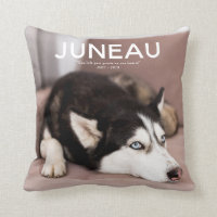 Pet Photo Memorial - Add Your Photo Throw Pillow
