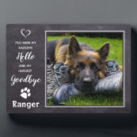 """Pet Photo Memorial - Dog Photo Keepsake - Pet Loss Plaque<br><div class=""""desc"""">Celebrate your best friend and cherish those precious memories with a custom unique Pet Memorial and Keepsake . This pet photo display plaque is the perfect gift for yourself, family or friends to honor those loved . We hope your pet photo memorial plaque will bring you joy , peace ,...</div>"""
