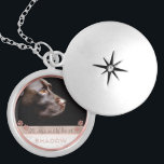 "Pet Photo Memorial Keepsake Paw Prints Rose Gold Locket Necklace<br><div class=""desc"">Personalized, memorial photo locket necklace for her- Ready for you to create your own pet memorial photo gift for pet owners grieving the loss of a furry friend crossing the rainbow bridge or for new pet owners wanting to show off the newest member of the family. Underneath your pet"