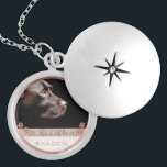 "Pet Photo Memorial Keepsake Paw Prints Rose Gold Locket Necklace<br><div class=""desc"">Personalized, memorial photo locket necklace for her- Ready for you to create your own pet memorial photo gift for pet owners grieving the loss of a furry friend crossing the rainbow bridge or for new pet owners wanting to show off the newest member of the family. Underneath your pet's photo,...</div>"
