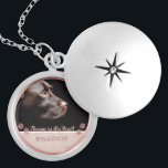 "Pet Photo Memorial Keepsake Paw Prints Rose Gold Locket Necklace<br><div class=""desc"">Personalized, memorial photo locket necklace for pet lovers- Ready for you to create your own pet memorial photo gift for pet owners grieving the loss of a furry friend crossing the rainbow bridge or for new pet owners wanting to show off the newest member of the family. Underneath your pet&#39;s...</div>"