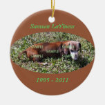 Pet Photo Memorial Ornament