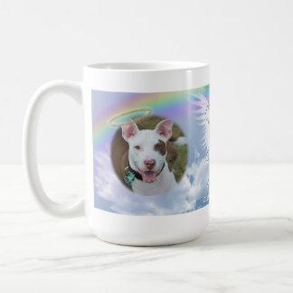 Pet Photo Memorial Rainbow Angel Wings and Halo Coffee Mug