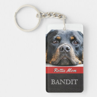 Pet Photo Personalized | Rottie Mom Rottweiler Dog Keychain