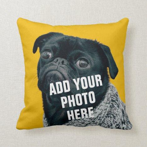 Pet Photo Personalized Throw Pillow