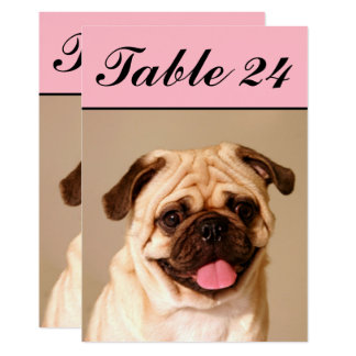 Pet Photo Table Number Cards   Custom Template