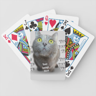 Pet Photo Template Bicycle Playing Cards