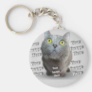 Pet Photo Template Keychain