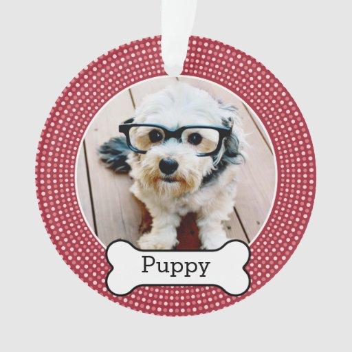 Pet photo with dog bone double sided ornament zazzle for Dog bone ornaments craft