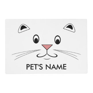 Pet Placemats With Names Laminated Place Mat