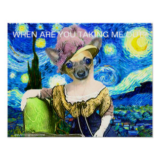 PET POSTER - WHEN ARE YOU TAKING ME OUT? ARA ARTIS