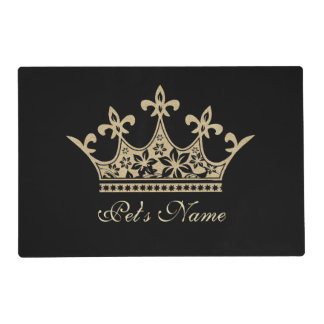 Pet Princess Black and Gold Personalized Placemat