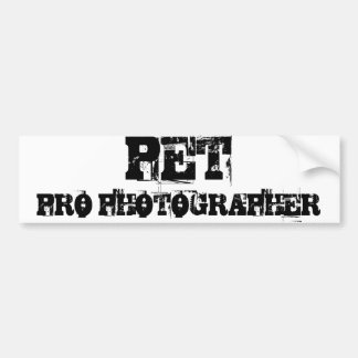 PET PRO PHOTOGRAPHER Bumper Sticker