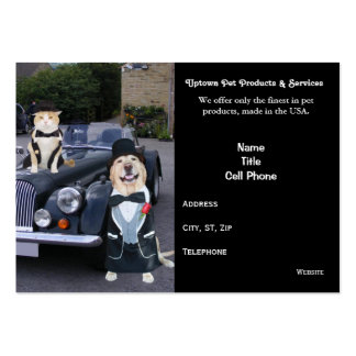 Pet Products & Services Large Business Cards (Pack Of 100)
