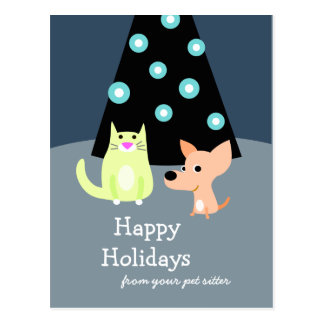 Pet Professional Holiday Card Post Cards