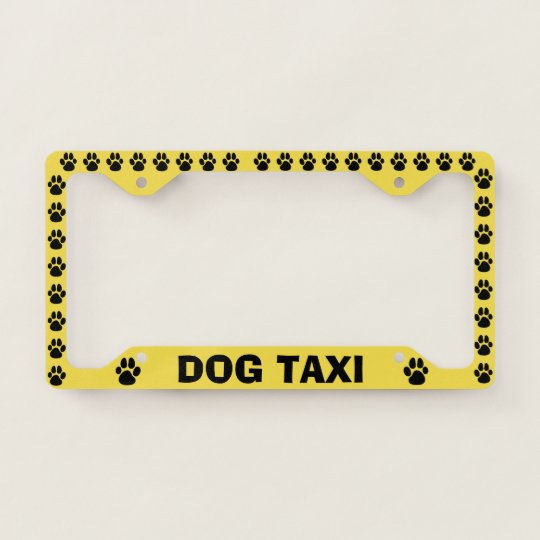 Pet Puppy Dog Taxi Funny License Plate Frame | Zazzle.com