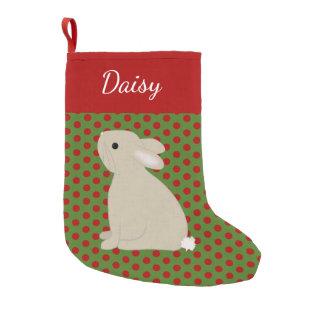 Pet Rabbit Personalized Christmas Small Christmas Stocking