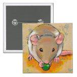 Pet rat adorable cute fun art Cuteness with a Pea Button