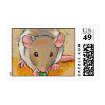 Pet rat adorable cute fun art Cuteness with a Pea Postage