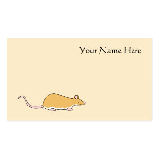 Pet Rat Cinnamon Berkshire White Belly Business Cards