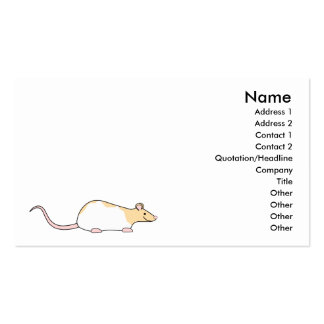 Pet Rat. Fawn and White Hooded Variegated. Business Card Templates