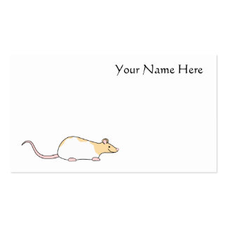 Pet Rat Fawn and White Hooded Variegated Business Card