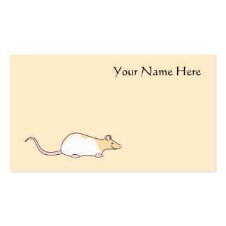 Pet Rat. Fawn and White Hooded Variegated. Double-Sided Standard Business Cards (Pack Of 100)