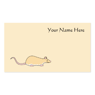 Pet Rat Fawn Berkshire White Belly Business Card