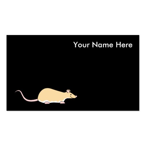 Pet Rat. Fawn Berkshire, White Belly. Double-Sided Standard Business Cards (Pack Of 100)