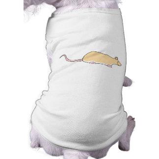 Pet Rat. Fawn Berkshire, White Belly. Shirt